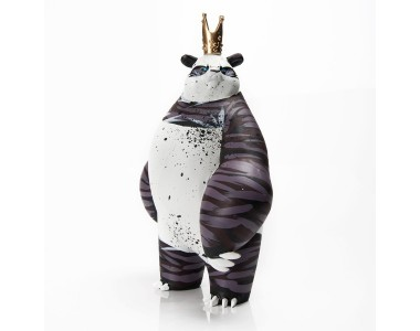 Angry Woebots - Panda King - Original